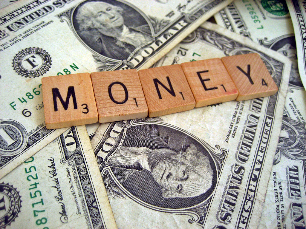 Money with your blog image