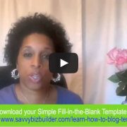 Training Video: Simple Blogging Strategy Plan